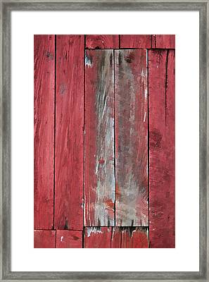 Rustic Red Barn Wall Framed Print