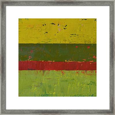 Rustic Roadside Series 2 - Yellow Sky Framed Print by Michelle Calkins