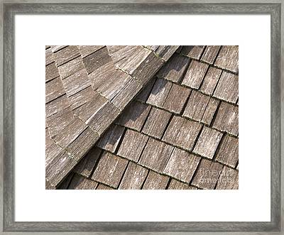 Rustic Rooftop Framed Print by Ann Horn