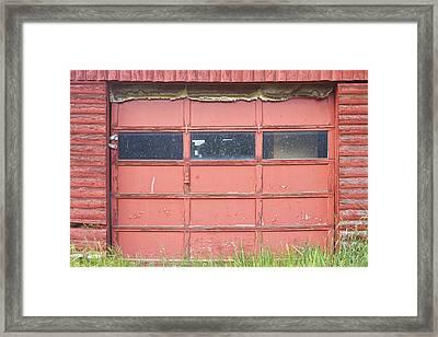 Rustic Rural Red Garage Door Framed Print by James BO  Insogna