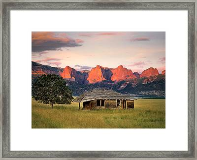 Rustic Southwest Framed Print by Leland D Howard