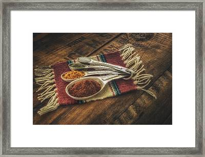 Rustic Spices Framed Print