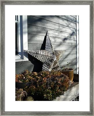 Framed Print featuring the photograph Rustic Star by Lyric Lucas