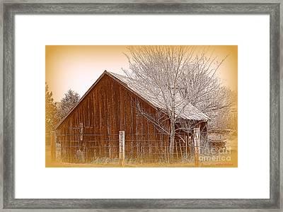 Rustic Nevada II Framed Print by Bobbee Rickard