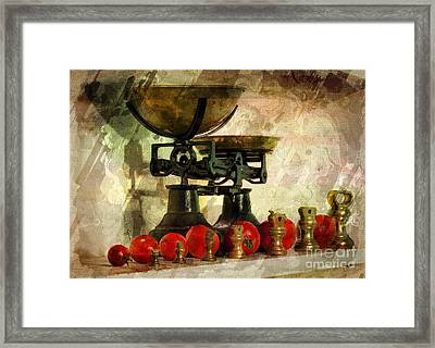 Rustic Tomatoes Framed Print