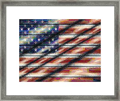 Rustic Usa Framed Print