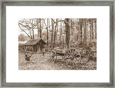 Rustic Wagon Framed Print by Debbie Green