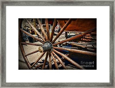 Rustic Wagon Wheel Framed Print
