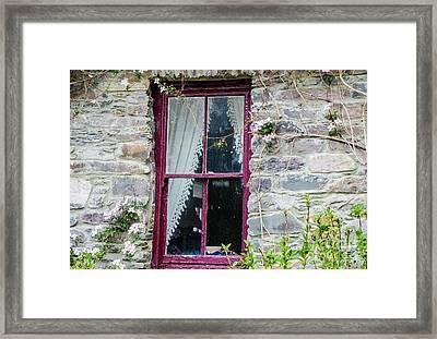 Rustic Window  Framed Print