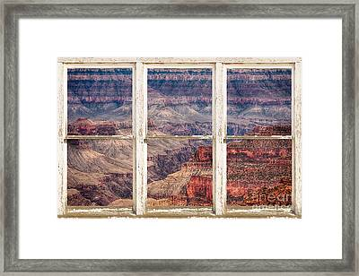 Rustic Window View Into The Grand Canyon Framed Print by James BO  Insogna
