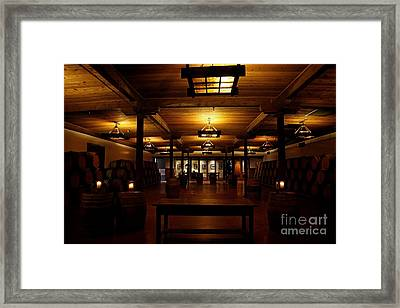 Rustic Wine Cellar Framed Print by Nina Prommer