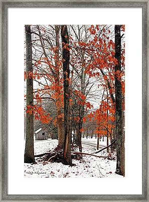 Rustic Winter Framed Print