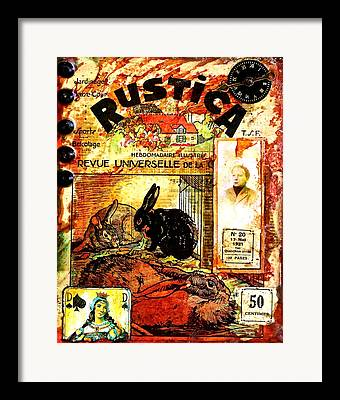 Magazine Cover Mixed Media Framed Prints