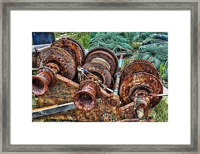 Rusting Away Framed Print by David Byron Keener
