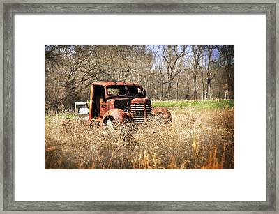 Rusting Away Framed Print by Marty Koch
