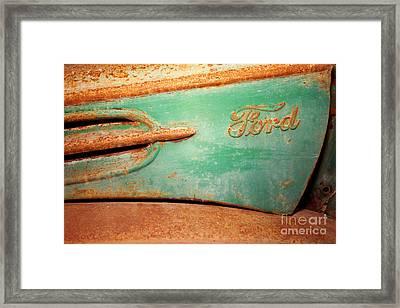 Rusting Ford Framed Print by James Brunker