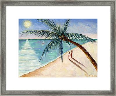 Rustling Palm Framed Print by Tilly Willis