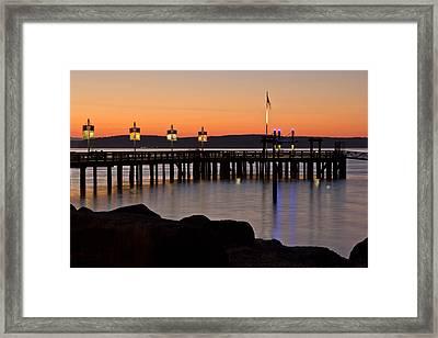 Ruston Way Tacoma Sunset Framed Print by Bob Noble Photography