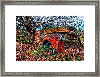 Rusty 1950 Chevrolet Framed Print