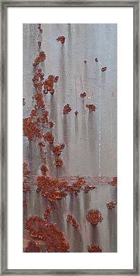 Rusty Abstract Framed Print by Jani Freimann