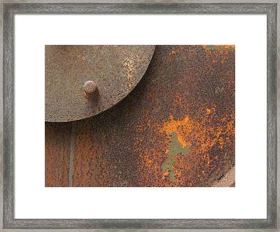 Rusty Abstraction Framed Print