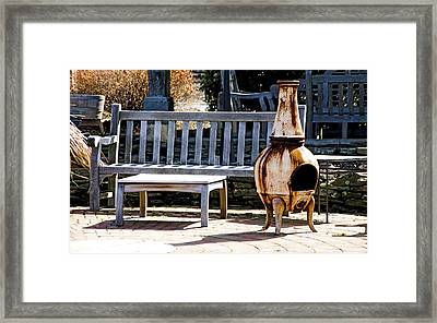 Rusty Antique Fire Place Framed Print