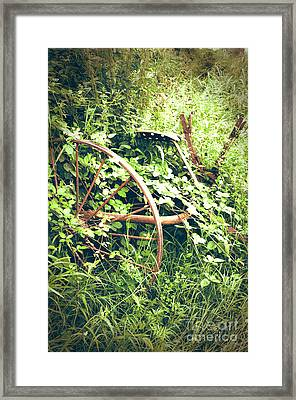 Rusty Antique Machinery Framed Print by Perry Van Munster