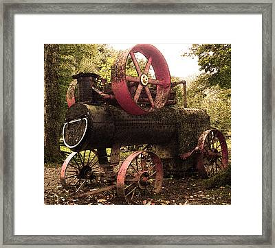 Rusty Antique Steam Engine Framed Print