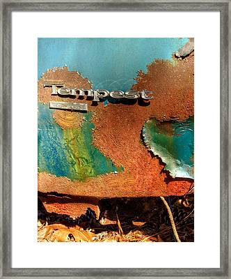 Rusty Blue Tempest Framed Print