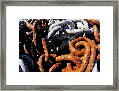 Rusty Boat's Chains Framed Print by Sami Sarkis