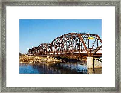Rusty Bridge Framed Print