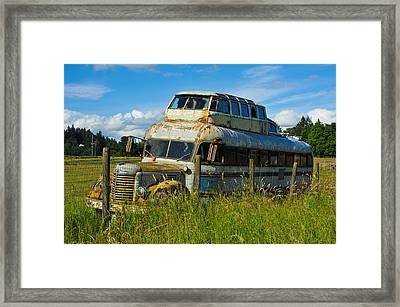 Framed Print featuring the photograph Rusty Bus by Crystal Hoeveler