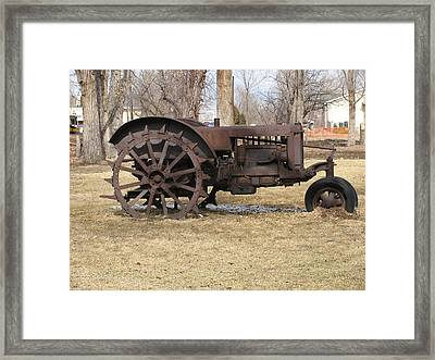 Rusty Case Tractor Framed Print by Steven Parker
