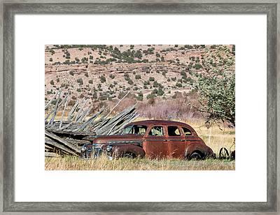 Rusty Chevrolet Special Deluxe In Manila Utah Framed Print