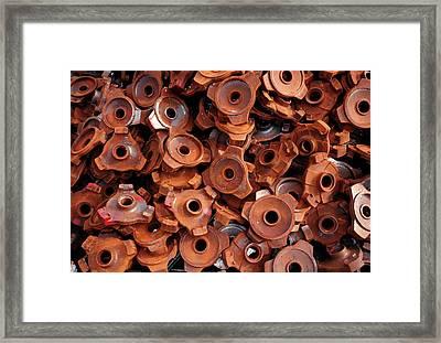 Rusty Cogwheels Framed Print