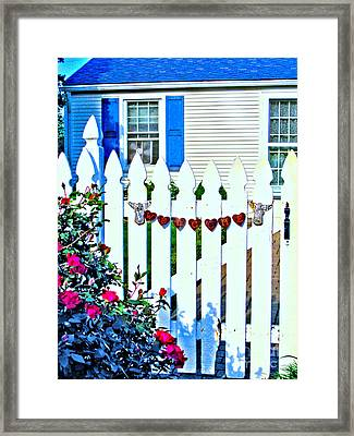 Rusty Cottage Welcome Framed Print