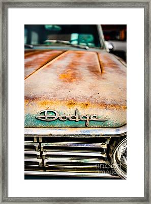 Rusty Dodge Hood Framed Print by Alexander Kunz