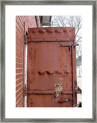 Rusty Door 1 Framed Print by Anita Burgermeister