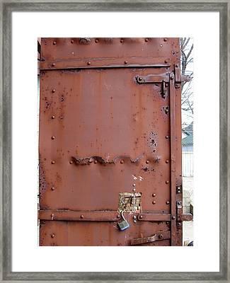 Rusty Door 2 Framed Print by Anita Burgermeister