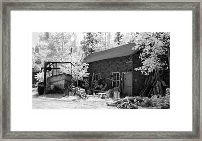 Rusty Drydock Framed Print