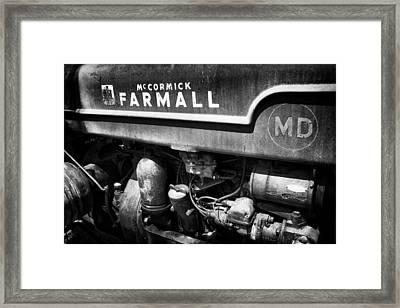 Rusty Farmall Bw Framed Print