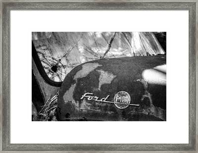 Rusty Ford F100 In Black And White Framed Print by Greg Mimbs
