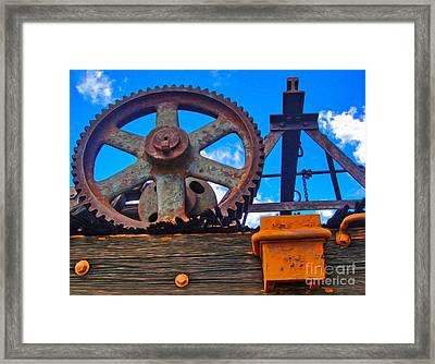 Rusty Gear Framed Print by Gregory Dyer