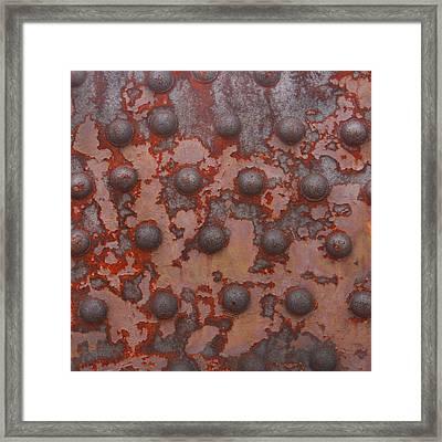 Rusty Girder Truss Framed Print by Art Block Collections