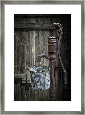 Rusty Hand Water Pump Framed Print