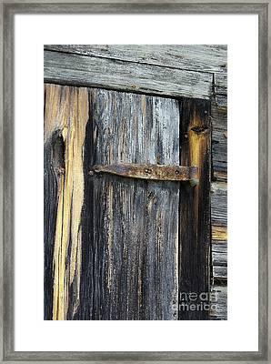 Rusty Hinge Framed Print by Skip Willits