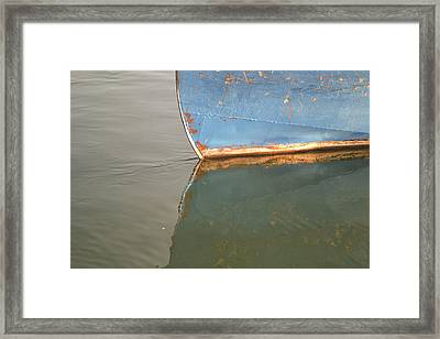 Rusty Hull Reflection Framed Print