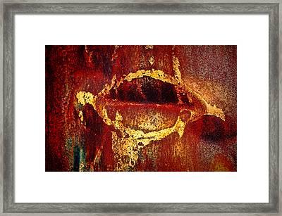 Rusty Kiss Framed Print by Leanna Lomanski