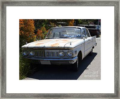 Rusty Mercury Comet . 7d15905 Framed Print by Wingsdomain Art and Photography