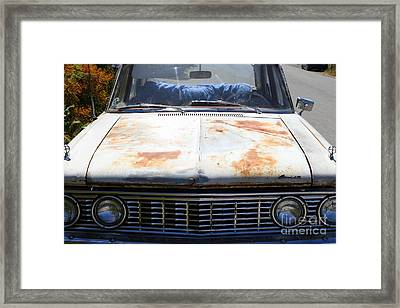 Rusty Mercury Comet . 7d15906 Framed Print by Wingsdomain Art and Photography
